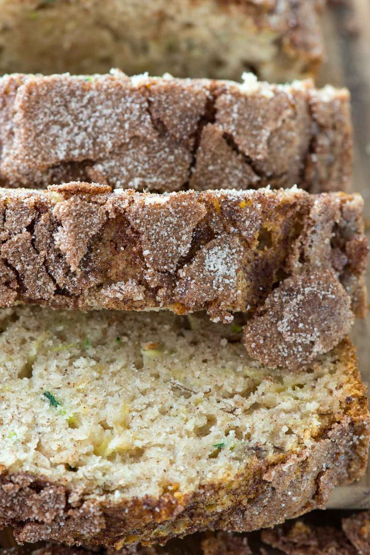 Cinnamon Sugar Zucchini Banana Bread - an easy banana bread recipe with zucchini and a crunchy cinnamon sugar topping baked right in.