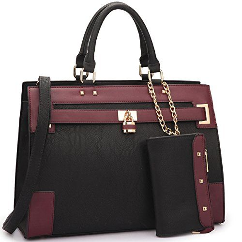 New Trending Briefcases amp; Laptop Bags: Dasein Fashion Womens Top Handle Briefcase Satchel Bag Double Belted Padlock Work Handbag w/ Coin Purse and Detachable Shoulder Strap (Black/Wine). Dasein Fashion Women's Top Handle Briefcase Satchel Bag Double Belted Padlock Work Handbag w/ Coin Purse and Detachable Shoulder Strap (Black/Wine)   Special Offer: $37.99      488 Reviews About This Product We suggest comparing it to a bag you already own to make su