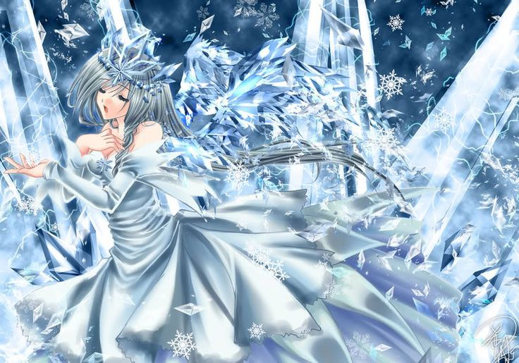 Ice girl | Water girl anime | Anime snow, Anime artwork ...