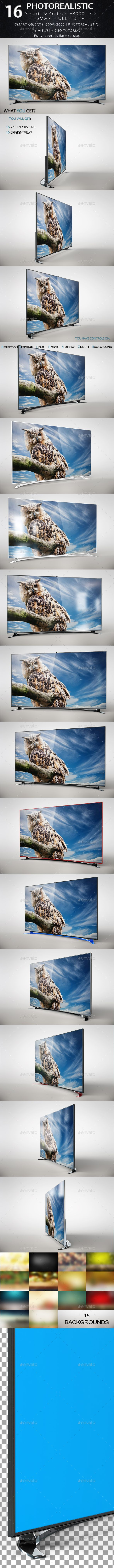 Smart Tv 46 Inch F8000 LED Full HD — Photoshop PSD #s7 #website • Available here → https://graphicriver.net/item/smart-tv-46-inch-f8000-led-full-hd/17973068?ref=pxcr