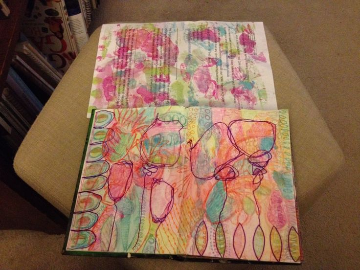 Sylvia Marris, Art journaling with crayon, markers and water colour pencils
