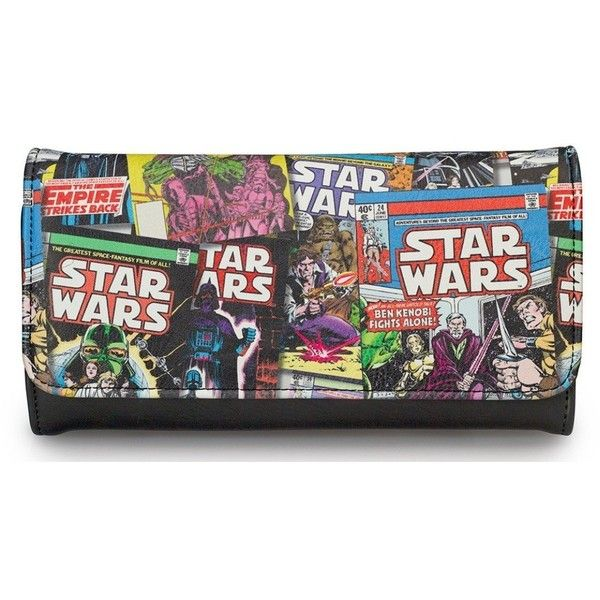 Star Wars Color Comic Print Faux Leather Wallet (235 SEK) ❤ liked on Polyvore featuring bags, wallets, star wars, vegan wallet, cartoon wallet, cartoon bag, fake leather bag and fake leather wallet