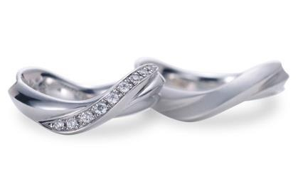 Twisted Matching Wedding Rings