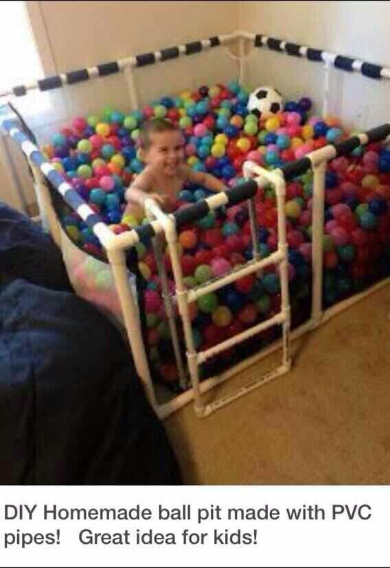 This DIY ball pit is so awesome!!