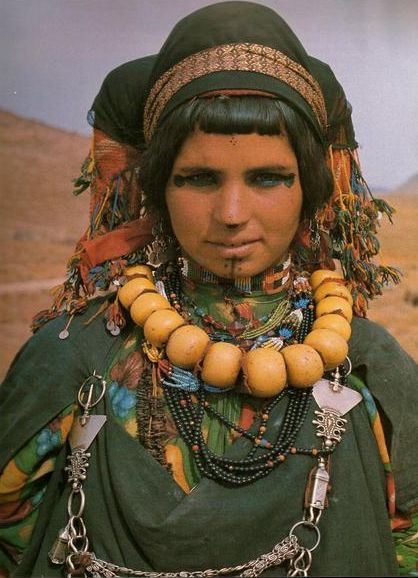Africa | Berber woman from the Ait Atta (nomads), Morocco