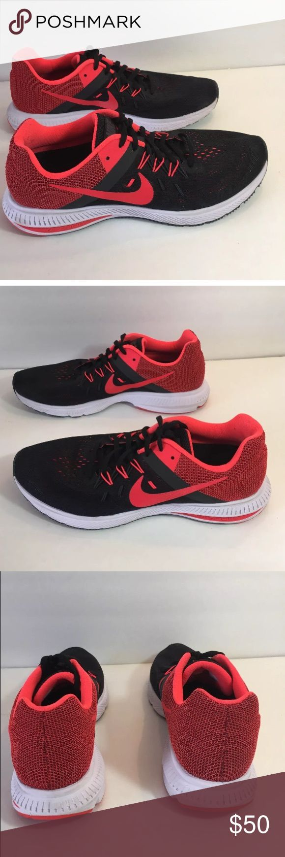 Men's Nike Training shoes size 10.5 Red and Black Nike men's size 10.5. Black and red. In excellent condition still! Only worn maybe 10-15 times or so to my local indoor gym. No wear on them. Ships next day. Nike Shoes Athletic Shoes