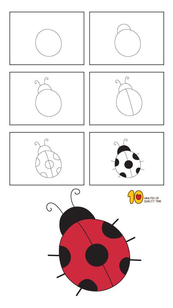 easy ladybug draw