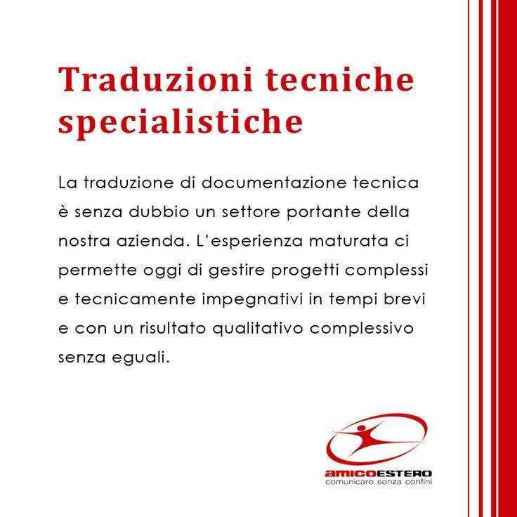 Traduzioni tecniche specialistiche!