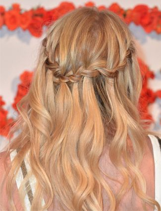 Jennifer Morrison's waterfall braid