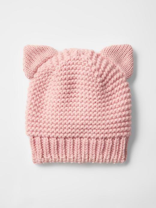 Cat metallic knit beanie Product Image