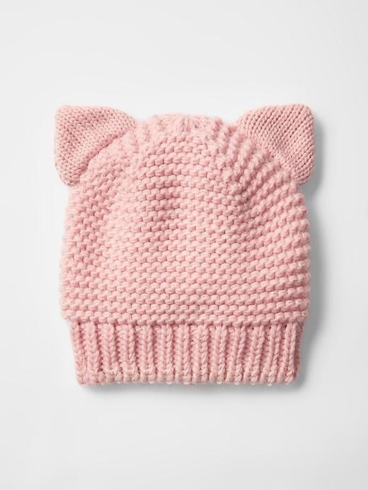 Cat metallic knit beanie Product Image