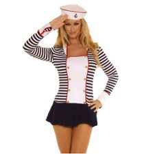Deluxe Y Sailor Captain Sea Princess Party Hen Night Costume Student Festival
