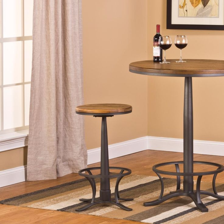 Rivage 26 in. Steel Gray Backless Swivel Counter Stool