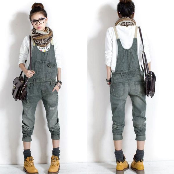 Korean Women Jeans Loose Denim Casual Cowboy Overalls Jumpsuit Playsuit UK 8-14 #Zanzea #Jumpsuit