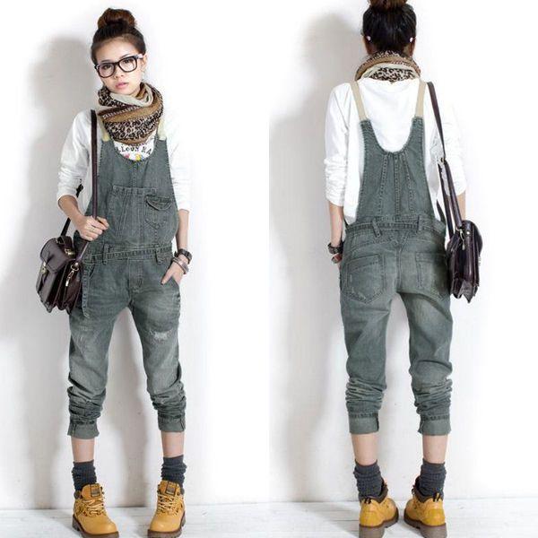 Korean Women Jeans Loose Denim Casual Cowboy Overalls Jumpsuit Playsuit UK 8-14 #Zanzea #Jumpsuit
