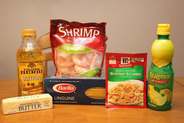 garlic butter shrimp scampi ingredients