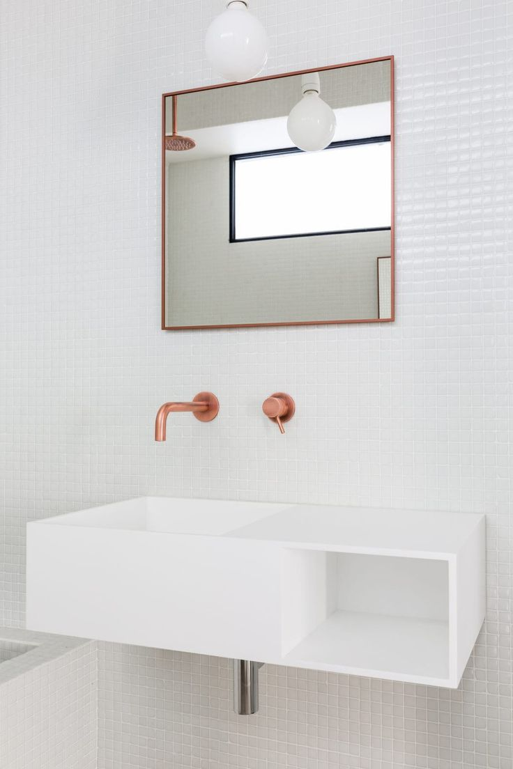 Bathroom vanity inspirations by edone design - Minimalist Apartment Design Focused On Raw Materials And Pure Forms By Jonathan Stene Architects Jonathan Stene Location Paris France Year 2016 Area