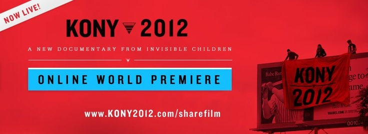 Follow this cause, if you don't know who KONY is, watch the video www.kony2012.com