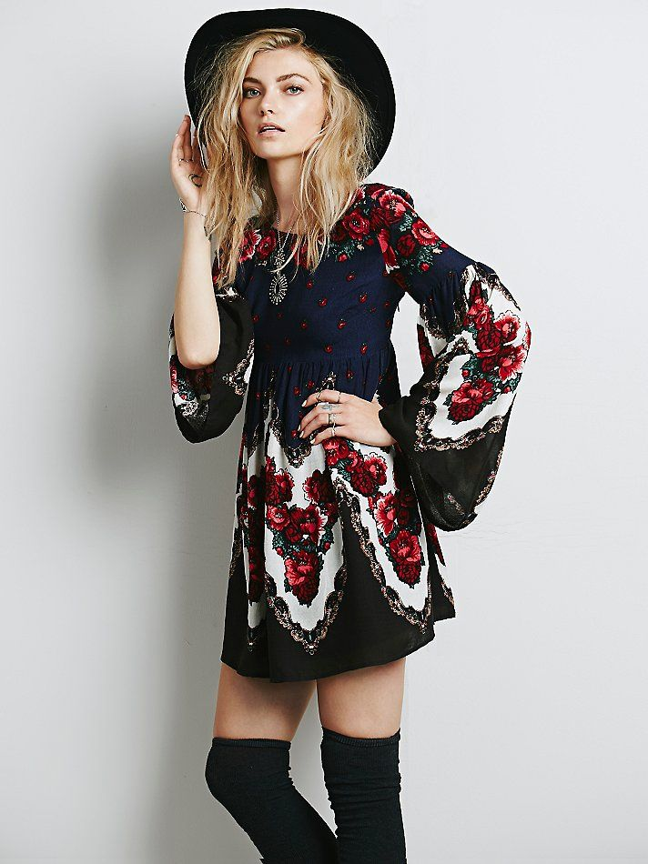 Free People Free Falling Tapestry Print Dress at Free People Clothing Boutique