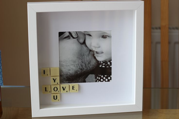 Fathers Day scrabble frame.