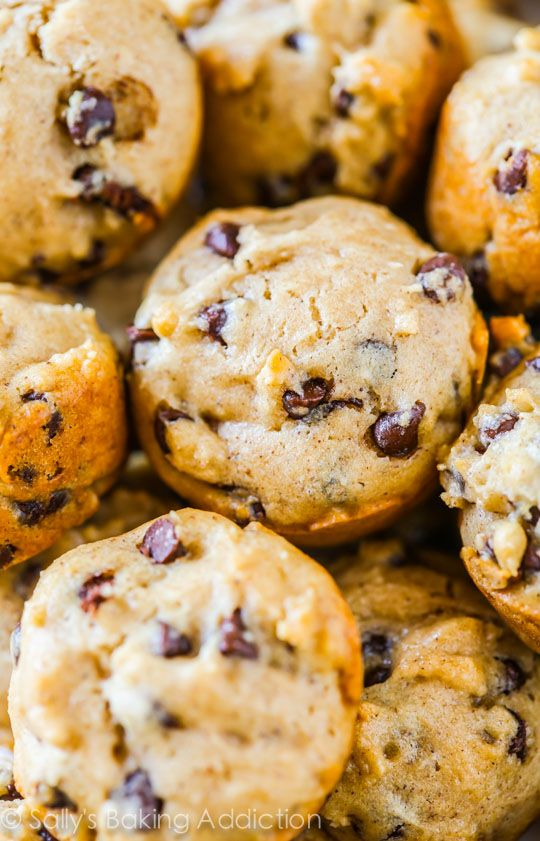 45 Calorie Mini Chocolate Chip Muffins on sallysbakingaddiction.com-- these do not taste lightened-up at all!