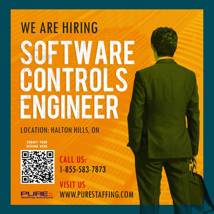 We are Hiring Software Controls Engineer 📧 info