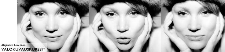 A 50's style portrait of Jutta Aalto  © Alejandro Lorenzo www.valokuvauskurssi.fi