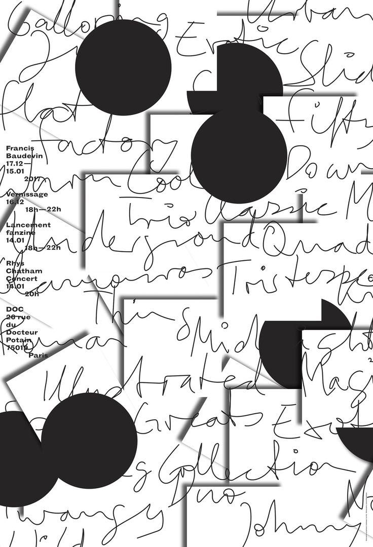 """francis baudevin"" by doc / france, 2017 / silkscreen, 1200 x 1760 mm"