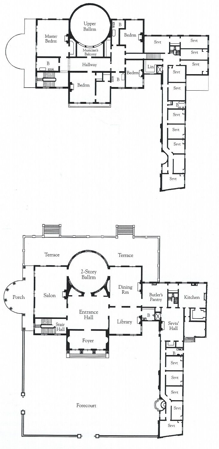 Furthermore medieval manor house on floor plans with central - Villa Rosa Plans For The Ground And First Floors You Can See How The