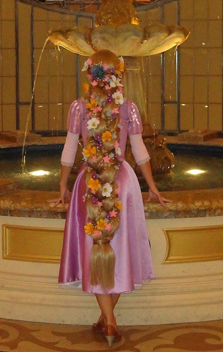 Rapunzel checking out a fountain...