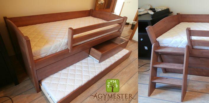 Virgonc ágy vendégággyal és két fiókkal