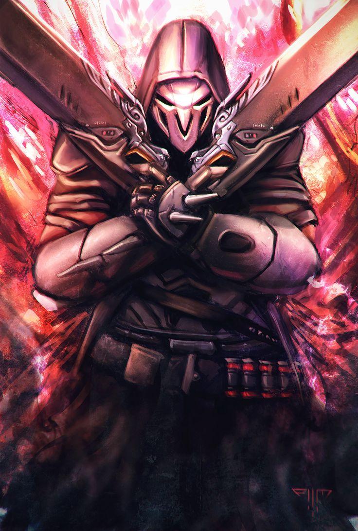Overwatch - Reaper, Amir Mohsin on ArtStation at https://www.artstation.com/artwork/2no1B