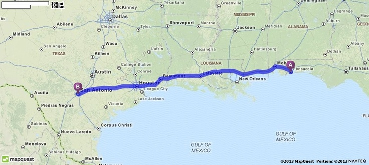 Driving Directions From Pensacola Florida To San Antonio