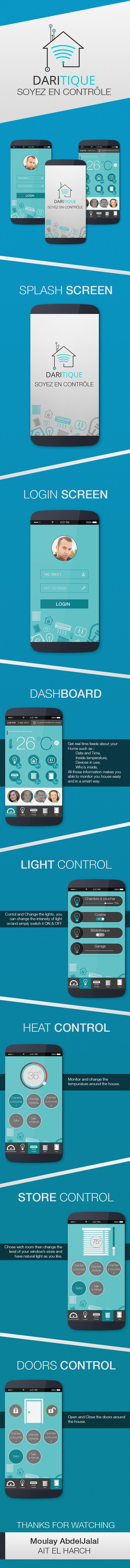 This is the concept design of a smart house controle phone apllication.