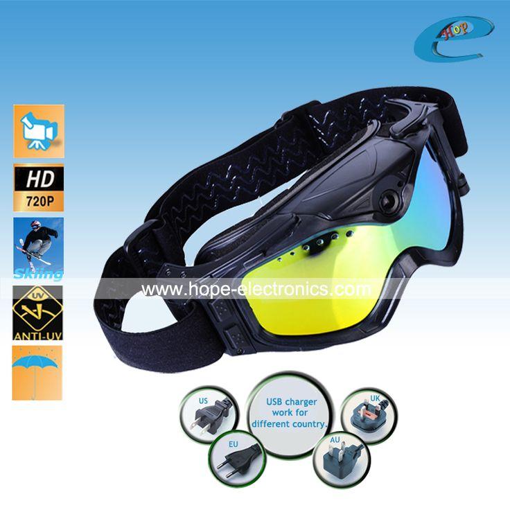 Лыжный закрытые очки снег катание на лыжах очки лыжный спорт HD DV DVR видеокамера рекордер