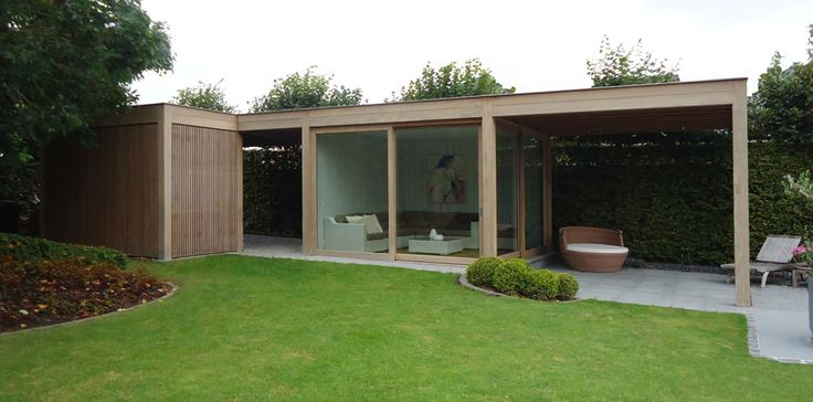 Hout modern outdoors tuin huis house to home pinterest outdoors house and modern - Huis hout ...