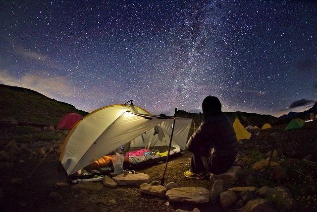 こんな星空、キャンプしないと味わいない!  五色ヶ原キャンプ場