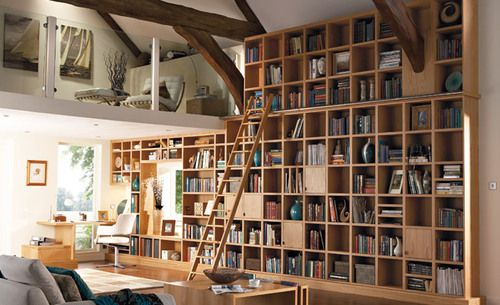 .Bookshelves, Dreams Libraries, The Loft, Home Libraries, Libraries Furniture, Book Storage, Dreams House, Living Room, Bookcas