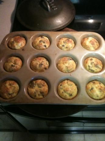 Egg Sausage Muffins Low Carb Easy Budget from Food.com: 								My husband was looking for an easy high protein breakfast, so I came up with these.......I make a batch and freeze them and he puts a couple in the microwave on his way out the door in the morning.