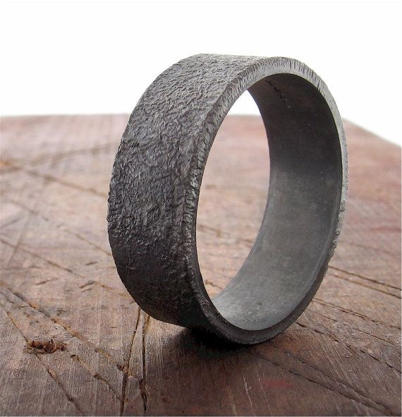 Matt granite wedding ring