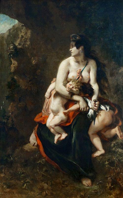 Eugène Delacroix - Médée (1838)    https://fr.wikipedia.org/wiki/M%C3%A9d%C3%A9e_(Delacroix)