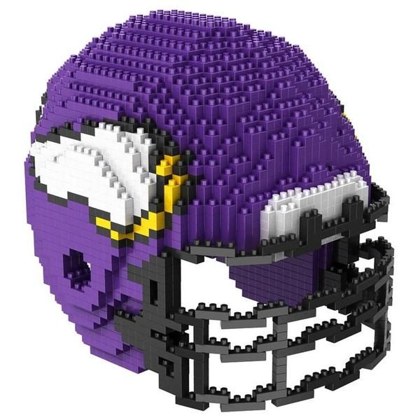 Minnesota Vikings NFL 3D BRXLZ Puzzle Helmet Set (SHIPS IN NOVEMBER)