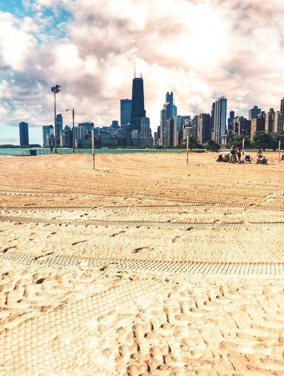 Chicago Oak Street Beach John Han Building Skyline Photography Wall