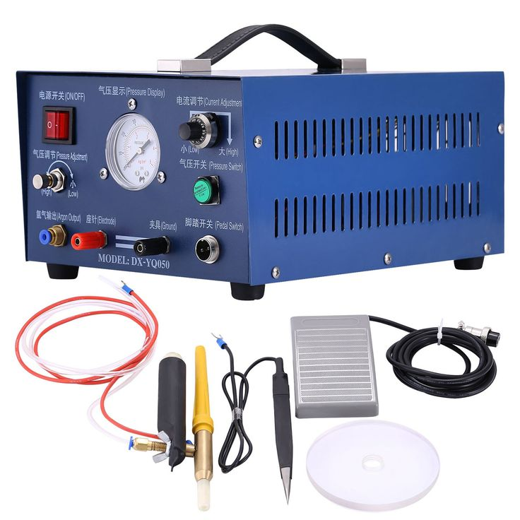 LOVSHARE Argon Arc Welding Machine 110V Jewelry TIG welder 400W Pulse Argon Welder Machine Electric Soldering Accessories Tools for Jewelry Gold Silver Platinum Palladium (argon function)