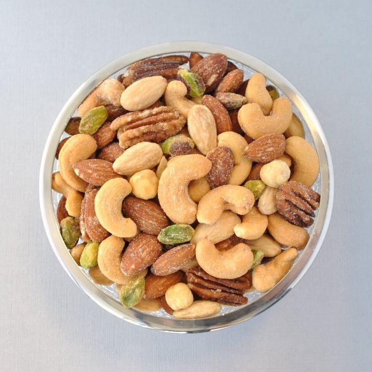 Merchant's Reserve Deluxe Reserve Mixed Nuts 9 oz. Jar Product Detail: Pistachios, Pecans, Hazelnuts, Cashews, Almonds