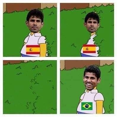When Diego Costa heard he wouldn't be picked for Spain.