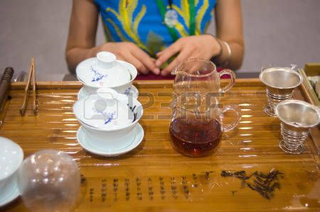 chinese thee: Chinese tea ceremony Stockfoto