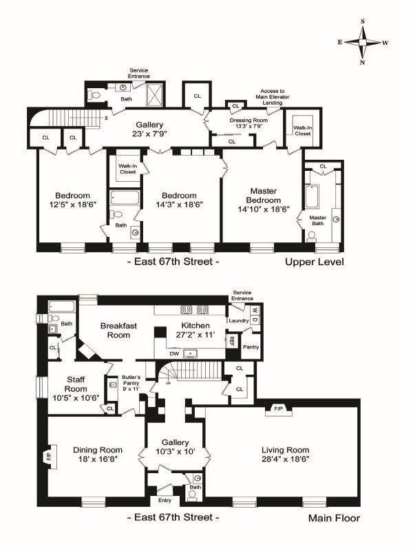 2 East 67th Street Maisonette B Apartment Floor Plans Floor Plans New York Apartments