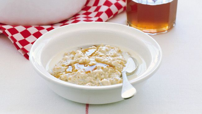 Porridge :) Just add a great dollop of honey at the end and mix :)  Enjoy :)