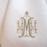 Beautiful two tone monogram